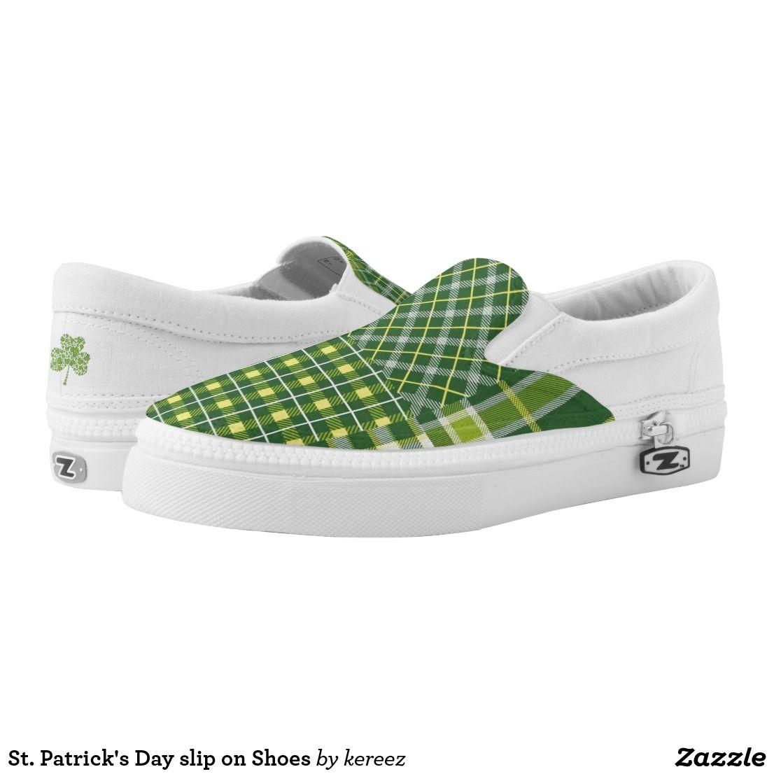 womens Skateboarding Shoes Canvas saint patricks day shamrock leaf Sport Sneaker