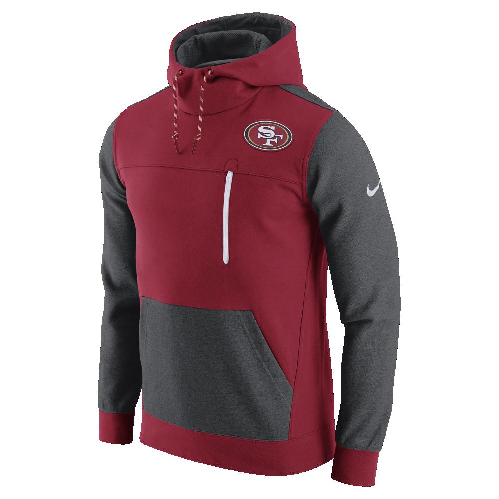Nike AV15 Fleece Pullover (NFL 49ers) Men's Hoodie Size