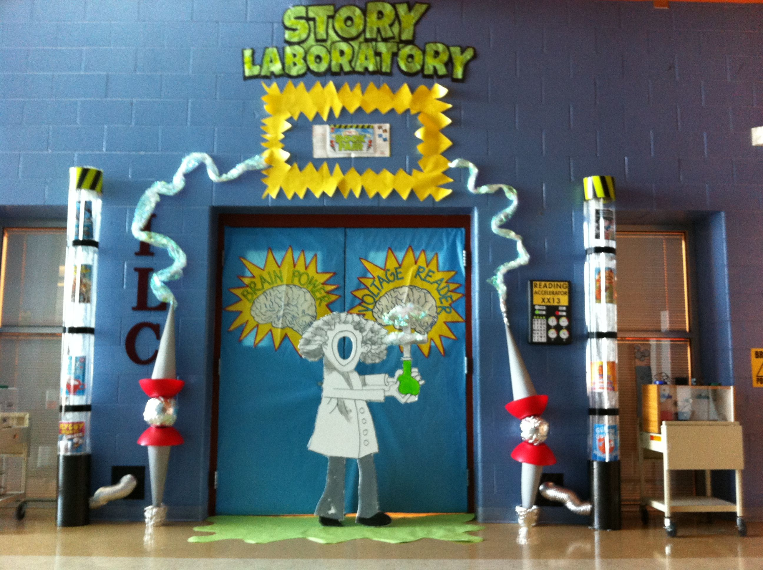Elementary Science Doors : Summer reading decorations book fair story
