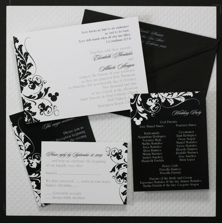"Disney Wedding Invitation: ""Hidden"" Mickey Wedding Invitations... I Would Hide It A"