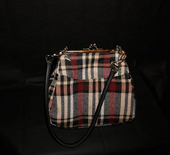 Mulberry Tartan Handbag by FloraMoonDesigns on Etsy