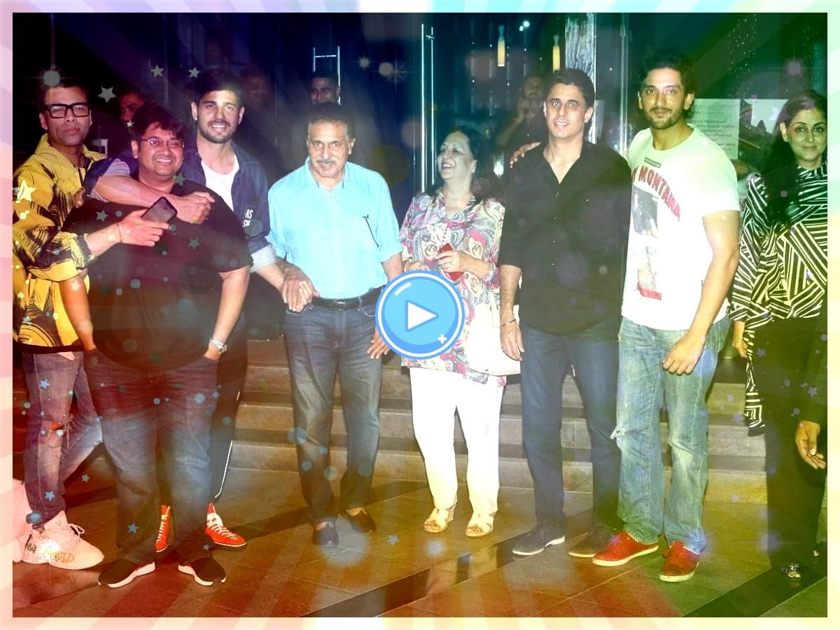 bonds with Sidharth Malhotra and familyKJo bonds with Sidharth Malhotra and family Chalo Movie Pre Release Function Bollywood News  Latest Bollywood News in Hindi  Rakul...
