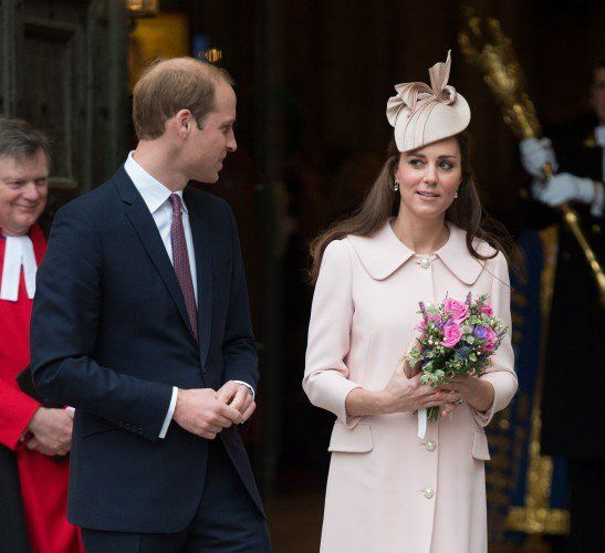 Prince William looks at his beautiful wife, the Duchess of Cambridge.
