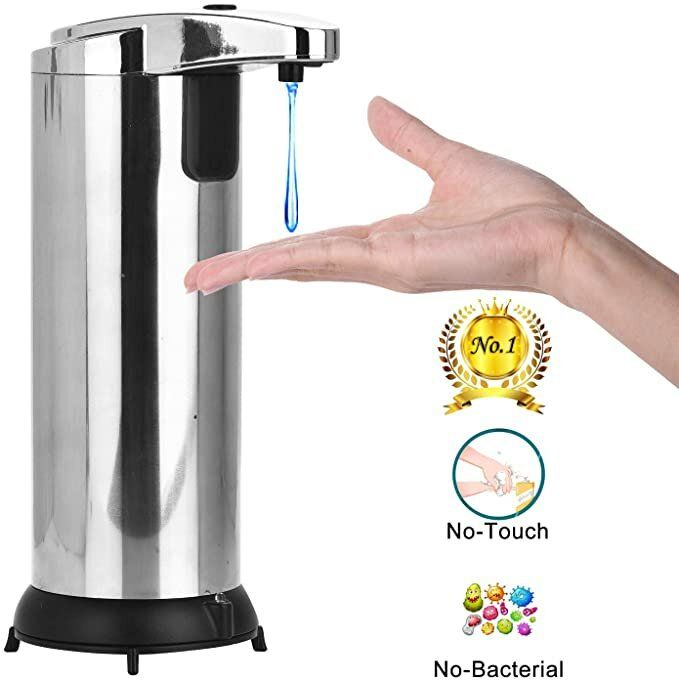 Photo of Automatic Soap Dispenser, Touchless Soap Dispenser Equipped with Stainless Steel, Infrared Motion Sensor Soap Dispenser