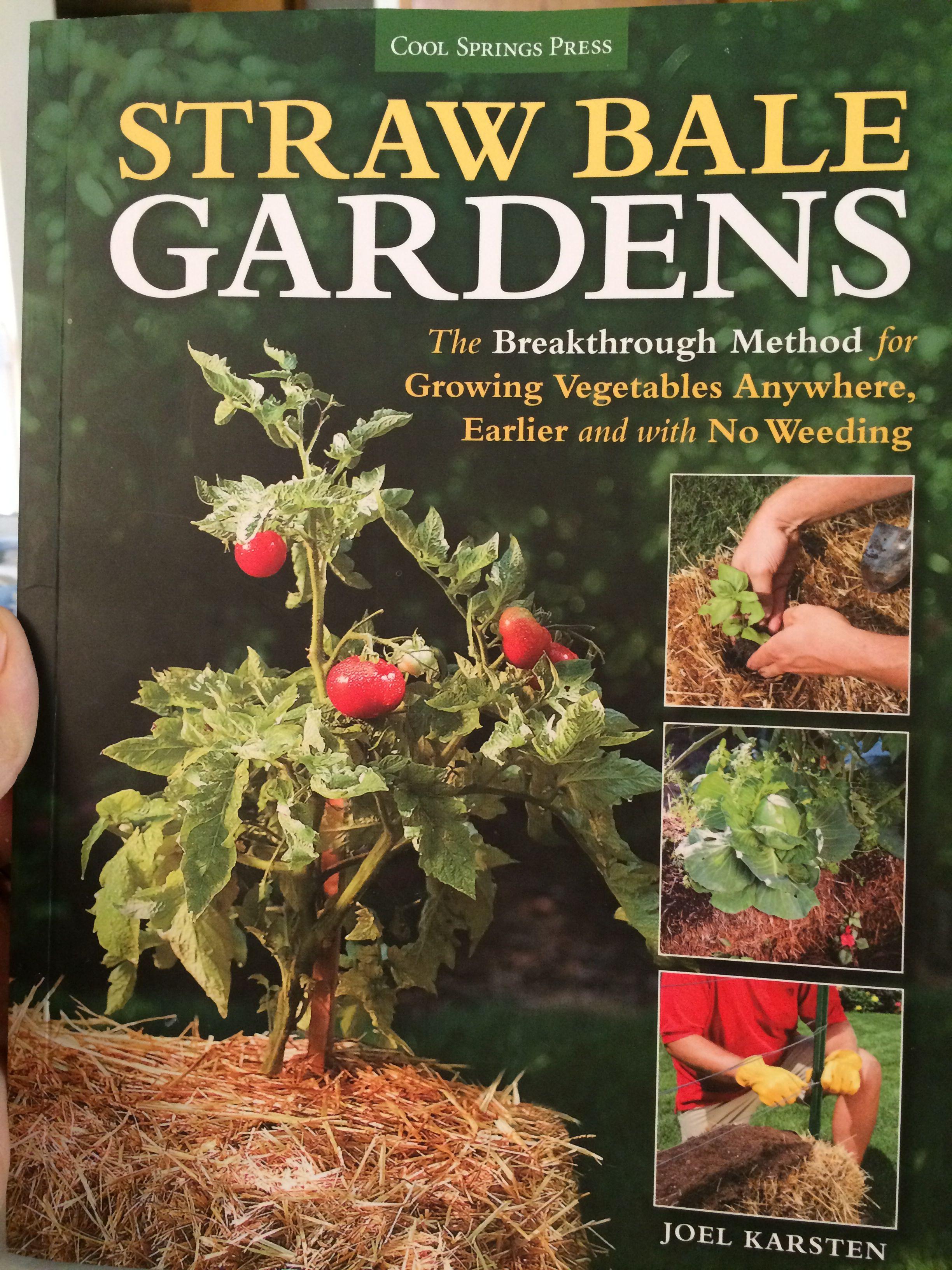 My straw bale garden bible   Straw bale garden   Pinterest   Straw ...