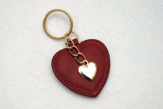 Cherry heart keychain leather Keyring Heart Keyring Cherry Heart Womens Key  Chain Leather keychain G 03e758bcf8