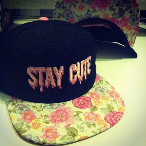 fd20f51bc6e99 STAY CUTE PINK FLORAL SNAPBACK from TOKYO HARDCORE from TokyoHardcore on  Storenvy. Saved to accessories