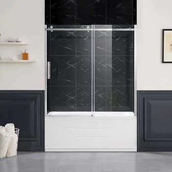 New Waves Detroit 60 Shower Costco 1399 99 Shower Sliding Glass Door Glass Shower Doors Sliding Shower Door
