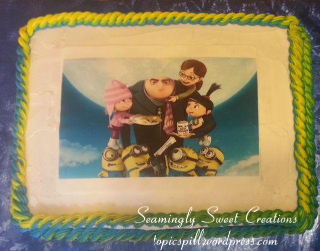 Food Blog| Seamingly Sweet Creations Despicable Me Birthday Cake http://wp.me/p2P6WX-LT #DIY #Minions #Cupcakes and #DespicableMe #BirthdayCake #FoodBlog