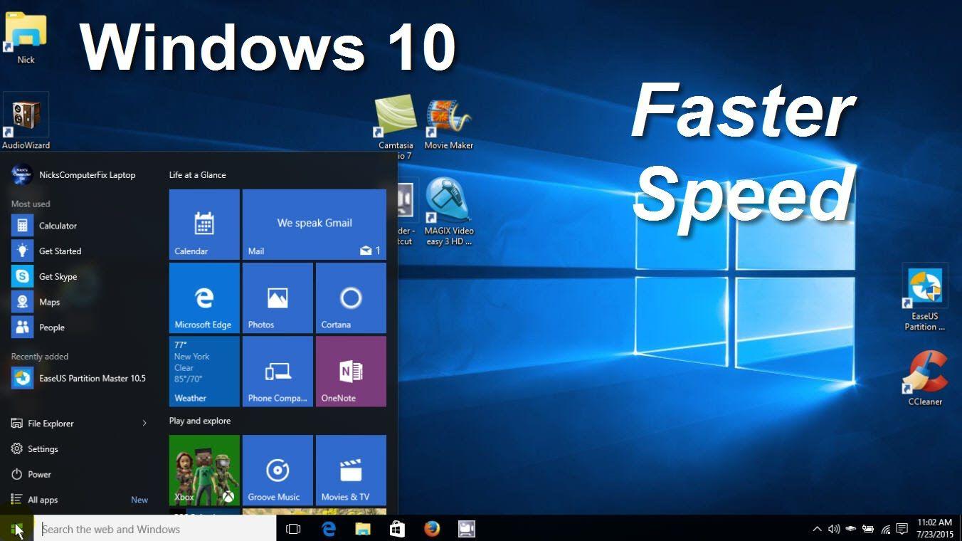 speed up laptop windows 7 free
