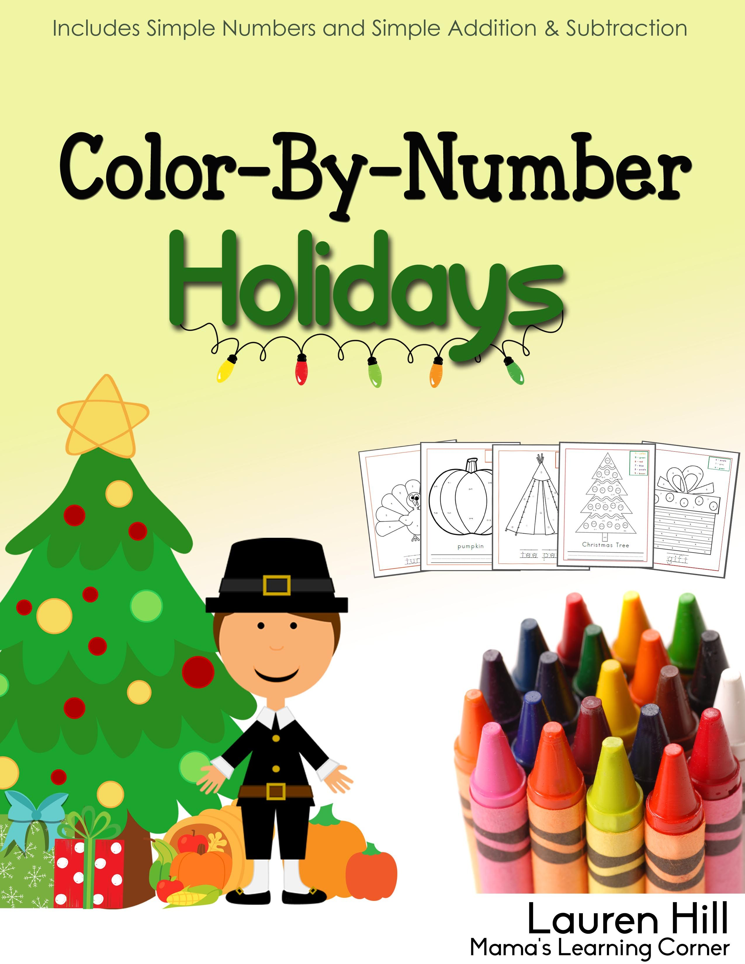 Color By Number Holidays Is A Fun Supplement To The