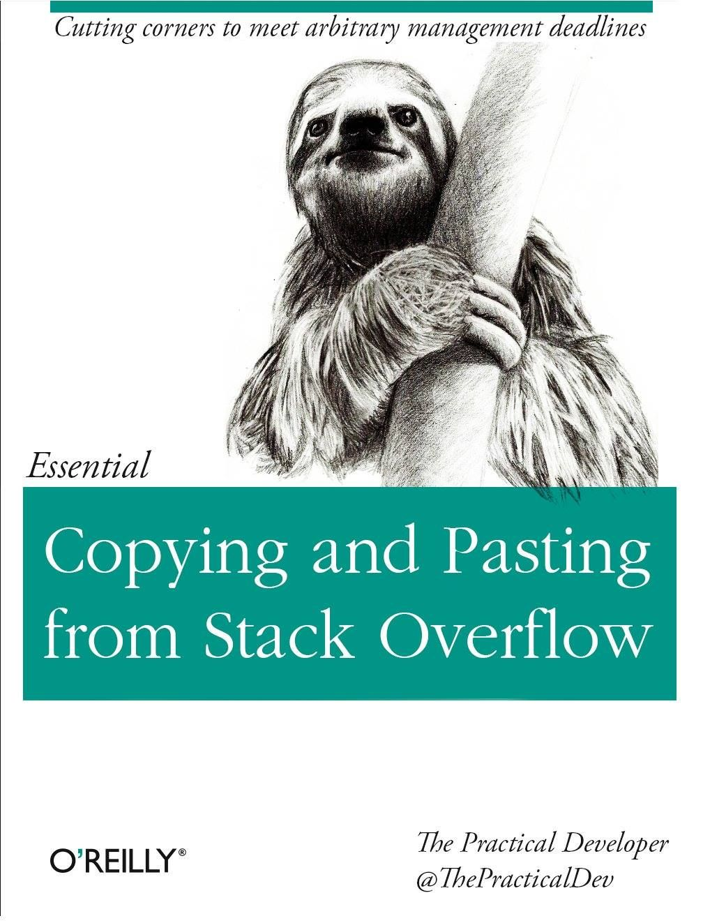 O RLY? Copying and Pasting from Stack Overflow Stack