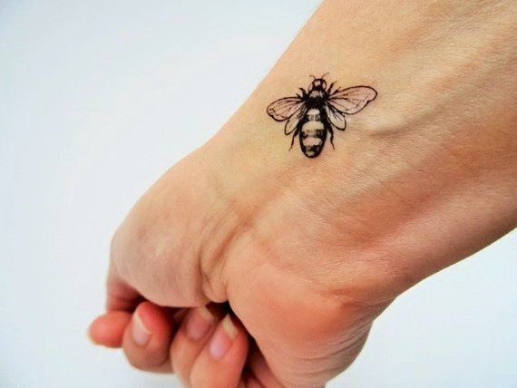 6 Bee Temporary Tattoos Realistic Bee Tattoo Vintage Bees Vintage Bee Tattoo Bee Tattoo Vintage Tattoo