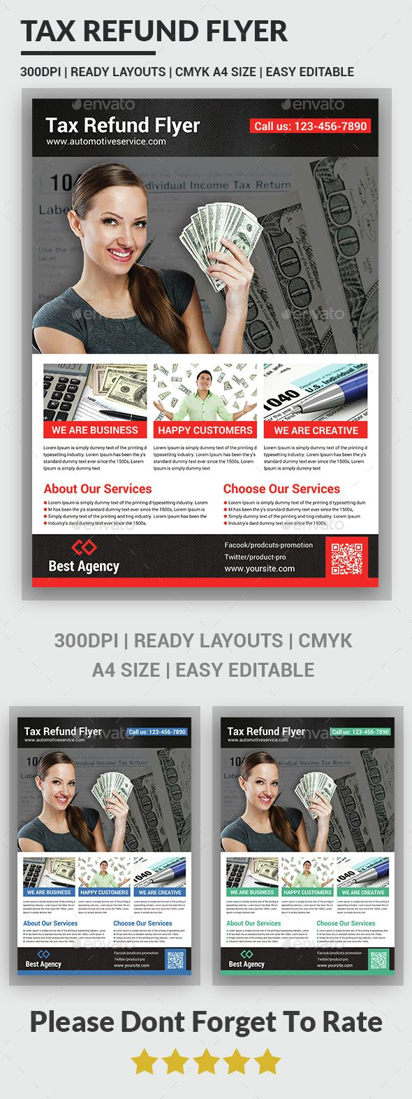 Tax Refund Flyer Template | Flyer template, Template and Font logo