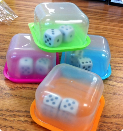 Controlled dice - no more flying around the room. I tried buying these, very expensive, going to make instead! works great easy to do!