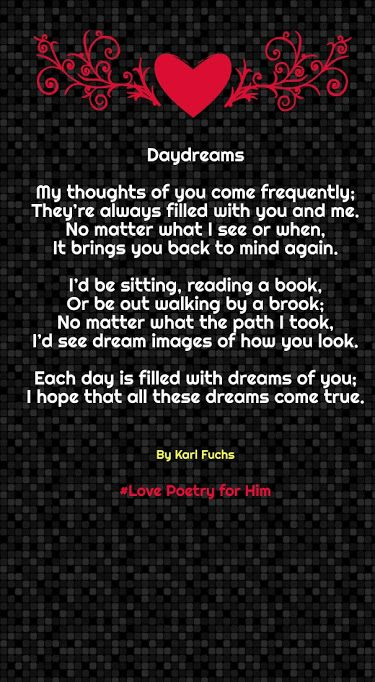 12 Sweet Rhyming Love Poems for Him (Boyfriend) | Love ...