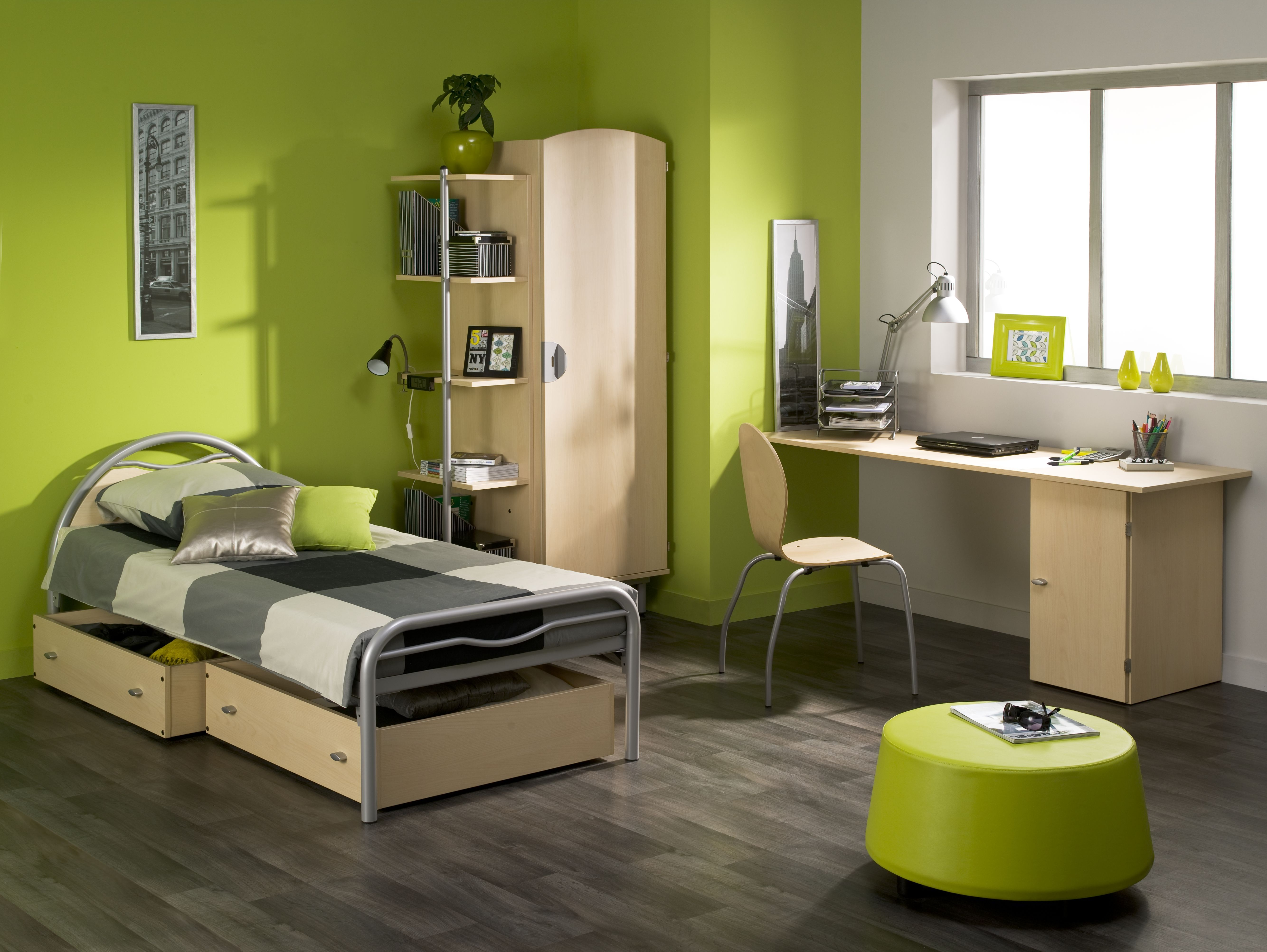 chambre etudiant gamme alba lit bureau rangement lit chambre internat litsuperpose. Black Bedroom Furniture Sets. Home Design Ideas
