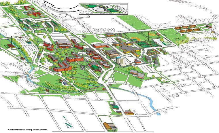 Nsu Tahlequah Campus Map.Nsu Tahlequah Campus Map Oklahoma Pinterest Regional