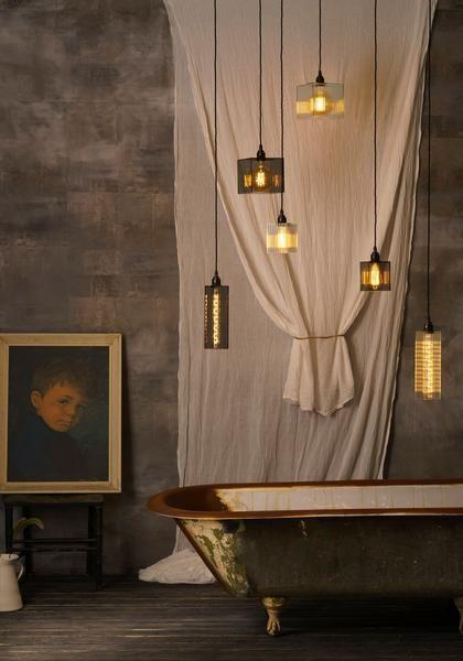 Alchemist Cotton Mill IP44 BATHROOM pendant cluster, Decorative ...