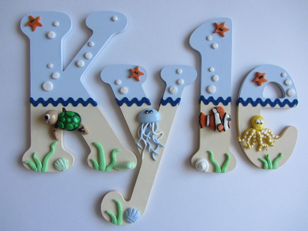 Wooden Nursery Bedroom Letters Under The Sea Themed