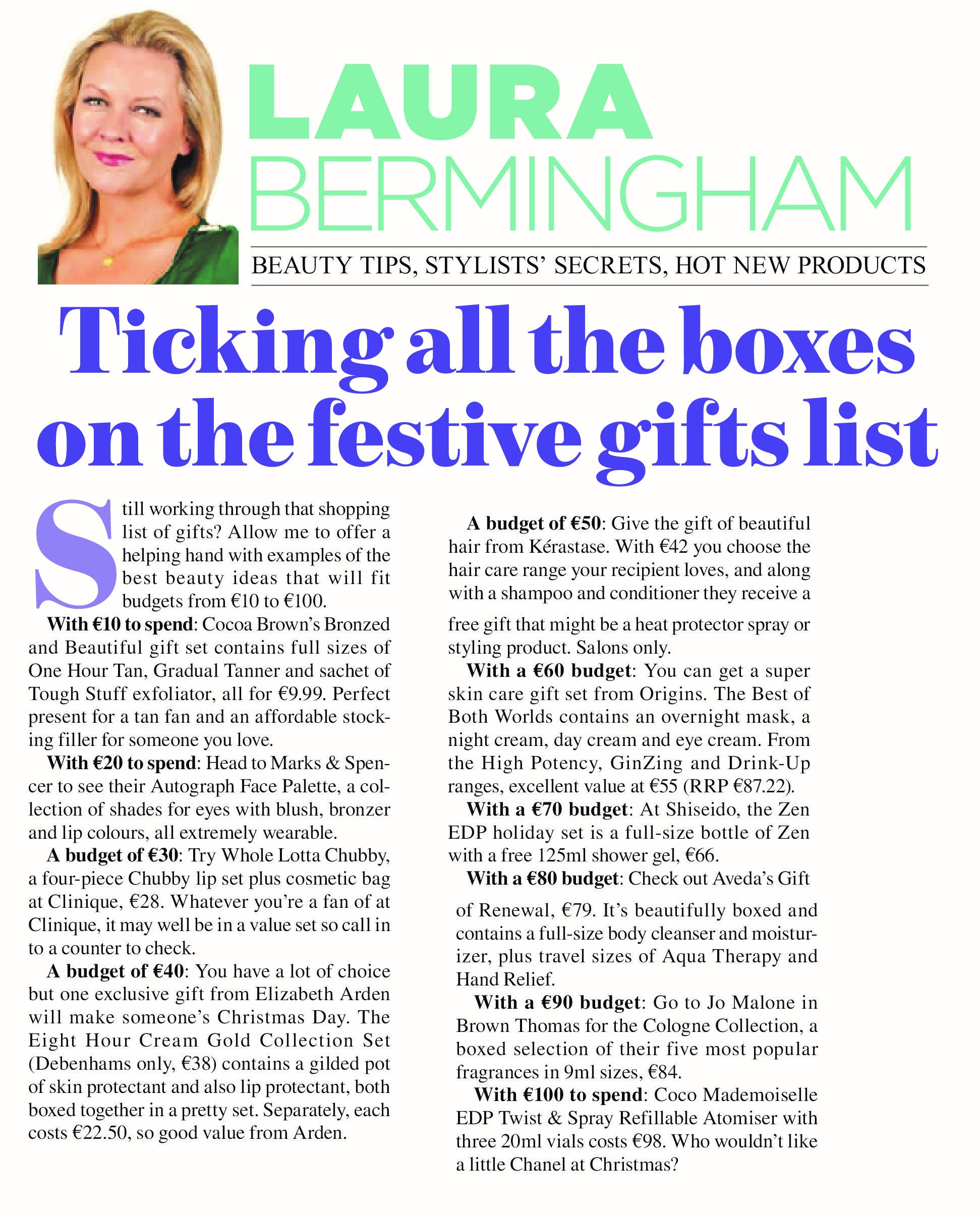 Irish Mail on Sunday 14th December 2014 Bronzed