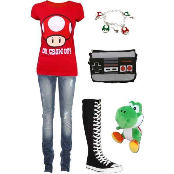 Nintendo Girl by ladysprinkles on Polyvore
