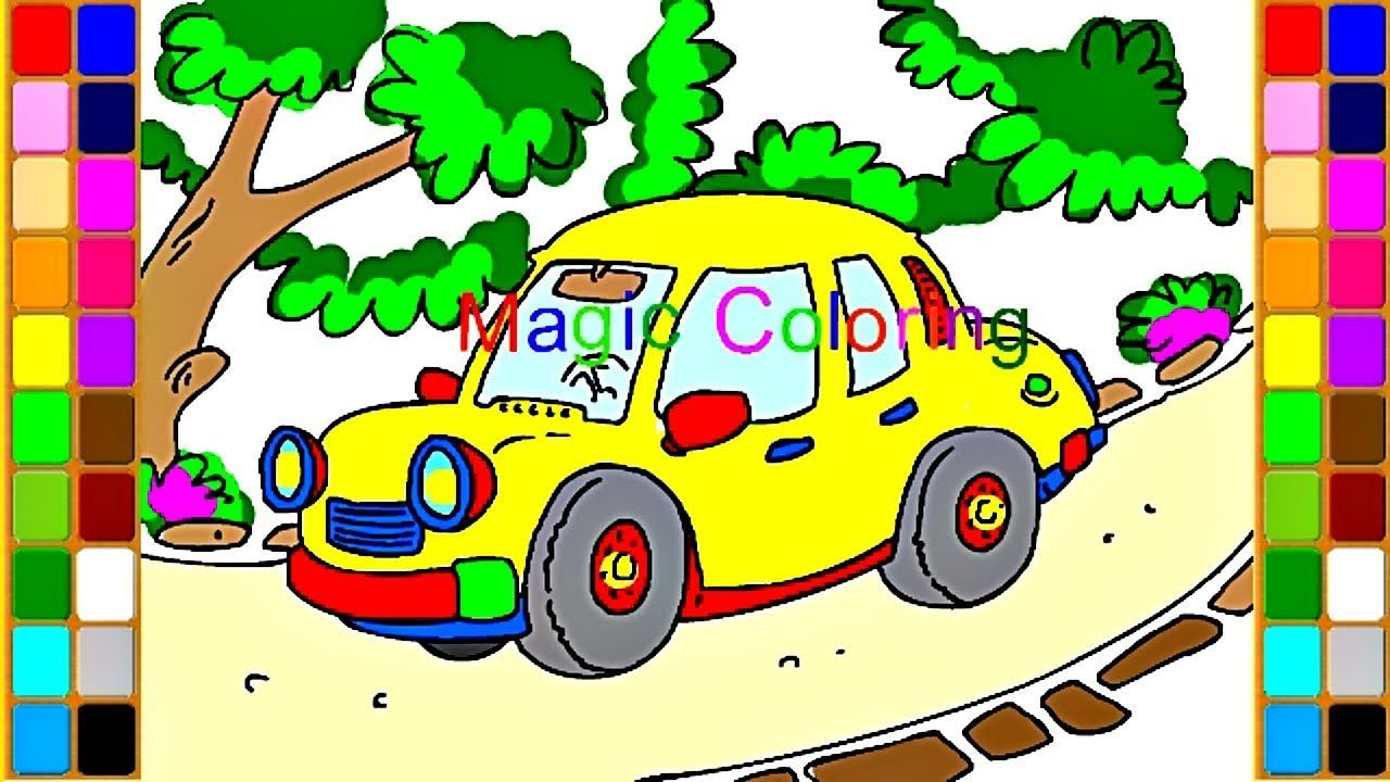 How To Draw A Cute Car For Kids Art Video Car Coloring Pages Art Videos For Kids Cars Coloring Pages Art For Kids