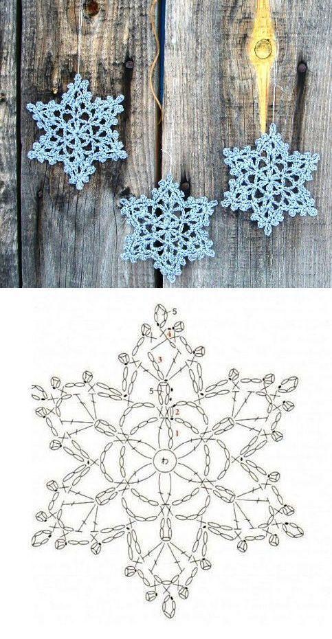 #非常にシンプルなかぎ針編みの星 Sehr einfacher Häkelstern        非常にシンプルなかぎ針編みの星