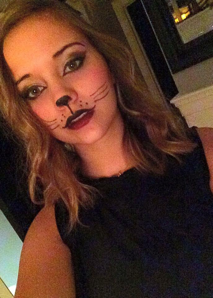 Cute cat makeup for Halloween | Cat Makeup | Pinterest | Easy ...
