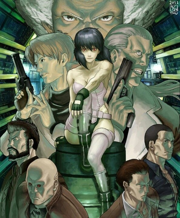 Section 9 From Ghost In The Shell S A C Anime Ghost Ghost In The Shell Ghost