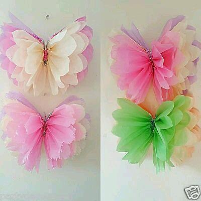 Como Hacer Mariposas Con Papel De Seda Manualidades Pinterest