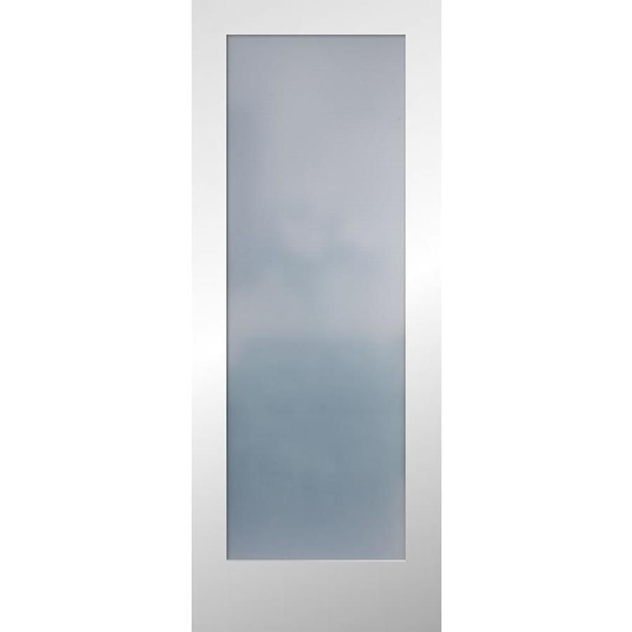 Reliabilt Frosted Glass Solid Core Slab Interior Door Common 32 In X 80