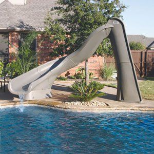 in ground pools with slides. Turbo Twister Thrill Ride Pool Slide - In The Swim Supplies Ground Pools With Slides