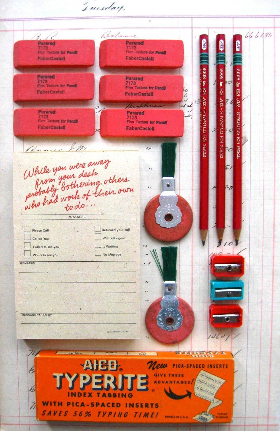 Merveilleux Instant Collection Of Retro Office Supplies. $12.00, Via Etsy.