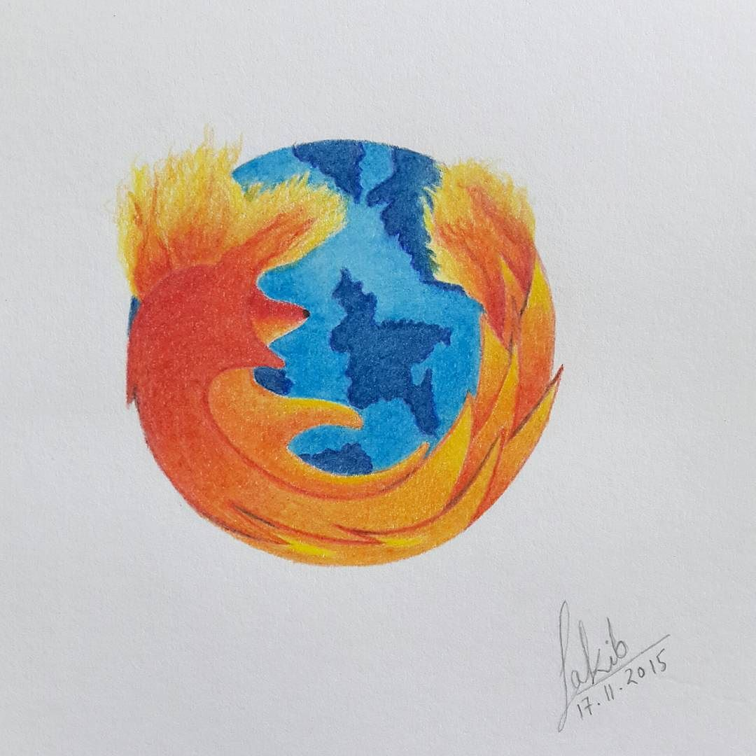 Mozilla Firefox Logo :) #art #artists #talentedpeopleinc #arts_spotlight #artscloud #arts_gallery #persian_art_sharing #drawing #picture #windows #browser #mozillafirefox #mozilla #browser #search #engine #fire #flames #sketching #colourful #earth #planet by artworldsakib