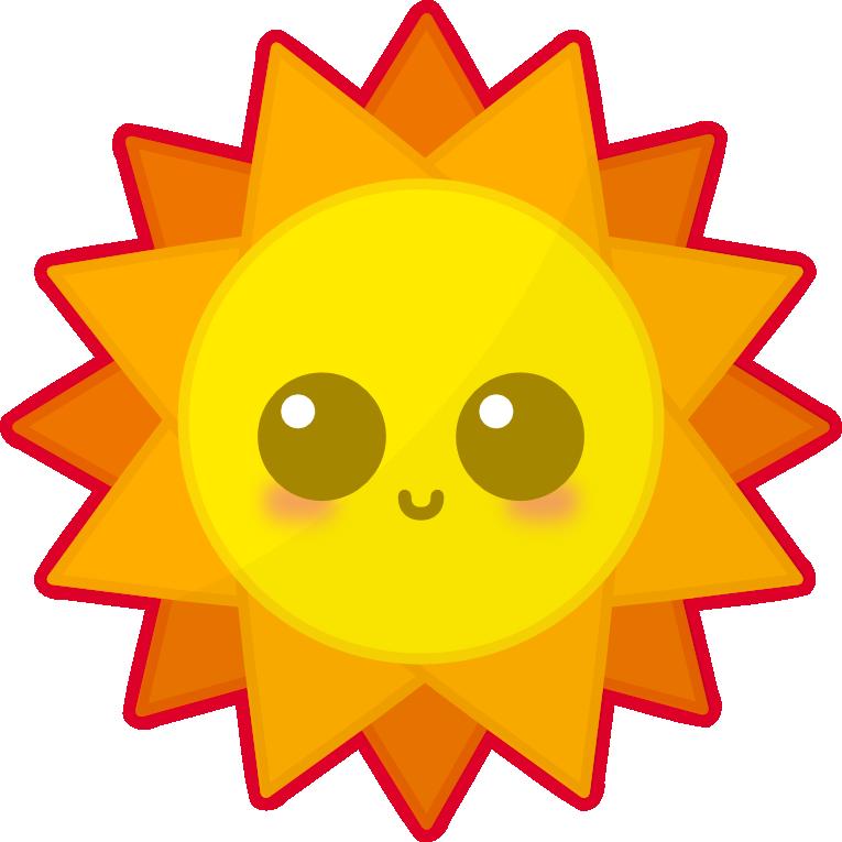 Kawaii Sun by amis0129 on deviantART | Free clip art, Kawaii drawings,  Animated clipart