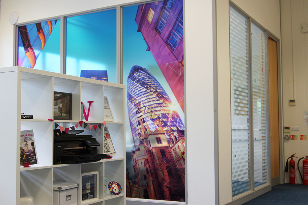 Wwwvinylimpressioncouk Custom Window Graphics For Office - Window decals custom uk