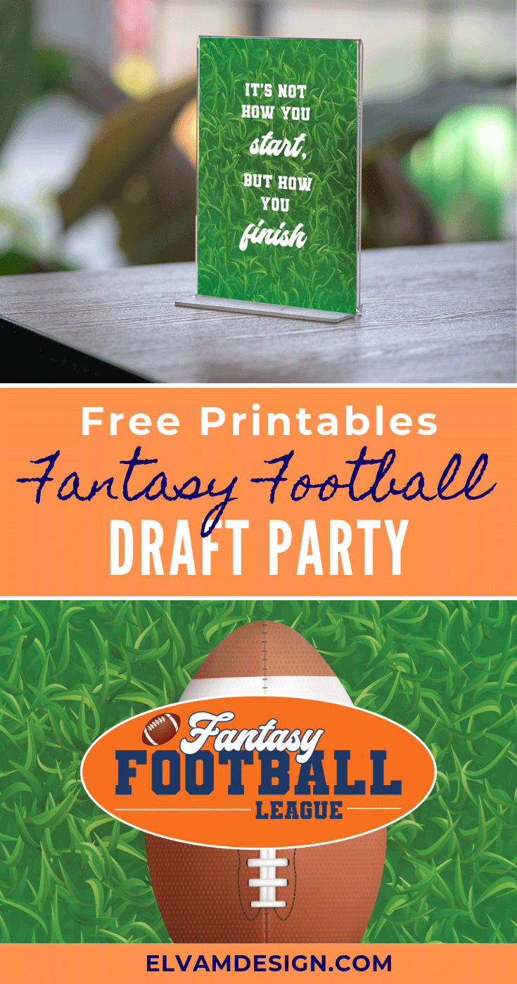 Fantasy Football Draft Party Free Printables Fantasy