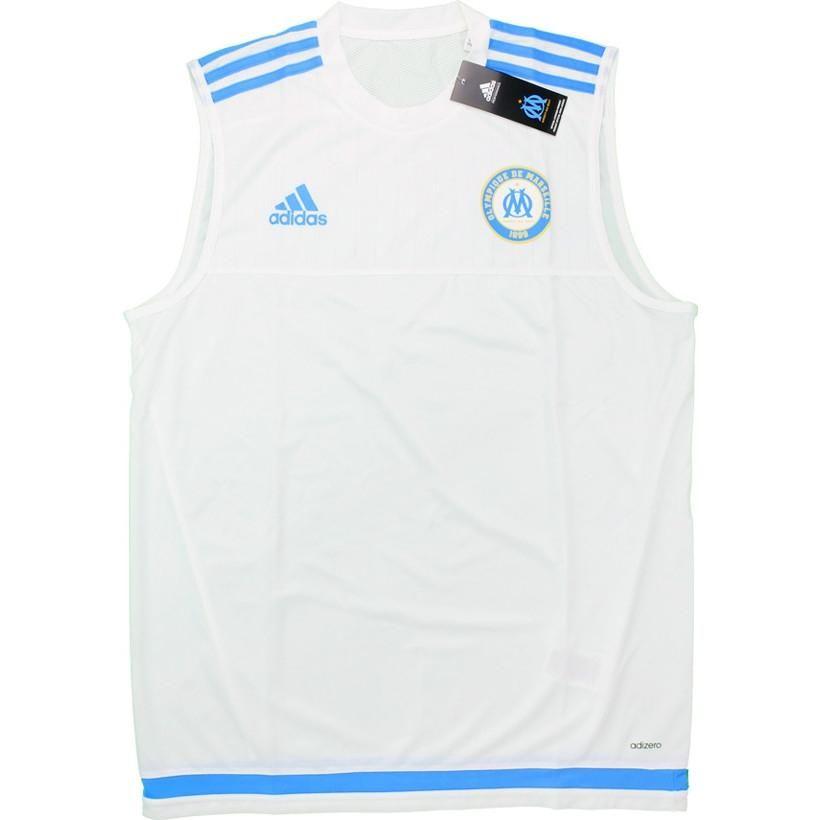Olympique Marseille Adizero Training Vest Shirt Soccer Fussball Original Jersey Football Bnwt Top Athletic Tank Tops Vest Shirt Soccer