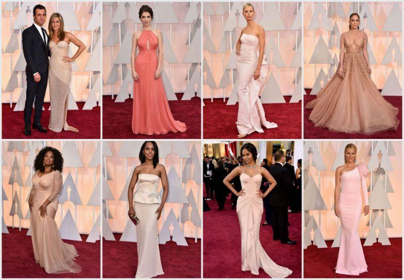 Ihania puuterinsävyisiä mekkoja Oscareissa :)
