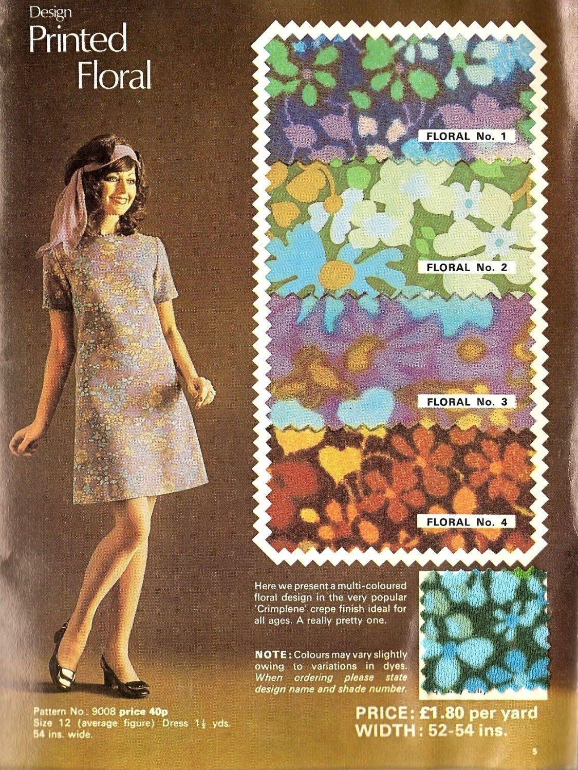 early 1970s crimplene catalogue