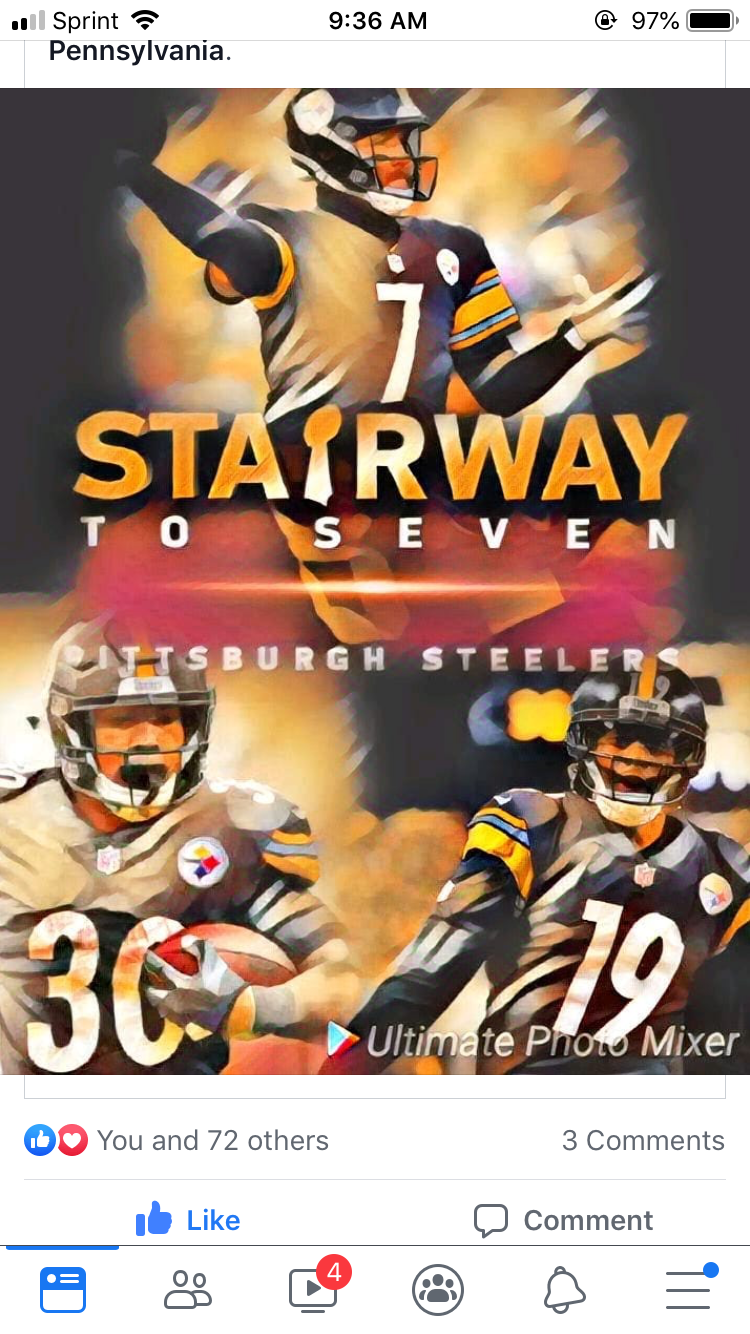 STAIRWAY TO SEVEN (With images) Steelers images