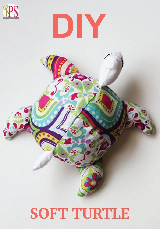 Sea Turtle Softie Sewing Pattern | Kuscheltiere, Kinderkram und Nähen