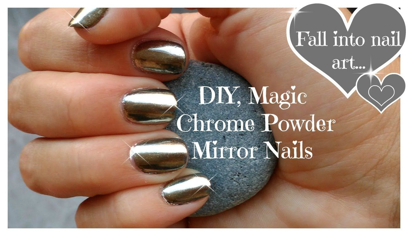 ♥ DIY, Chrome Powder Mirror Nails on a Budget ♥ | NAILS | Pinterest