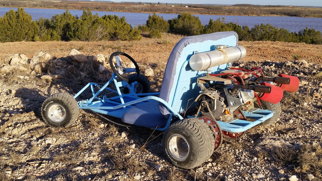 Beautiful vintage manco go kart with dual engines. This thing is a ...