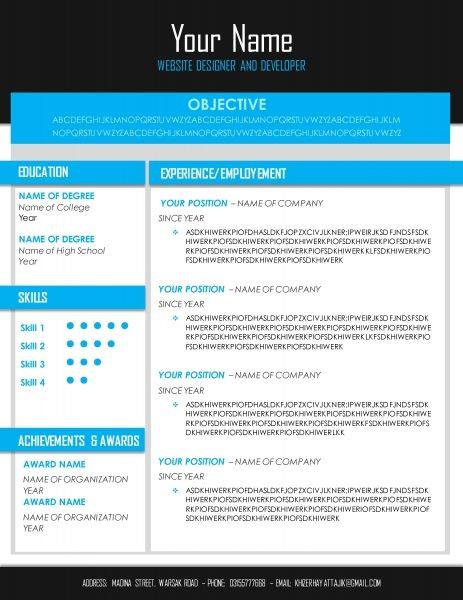 Create Blue Resumes Pinterest - create a resume