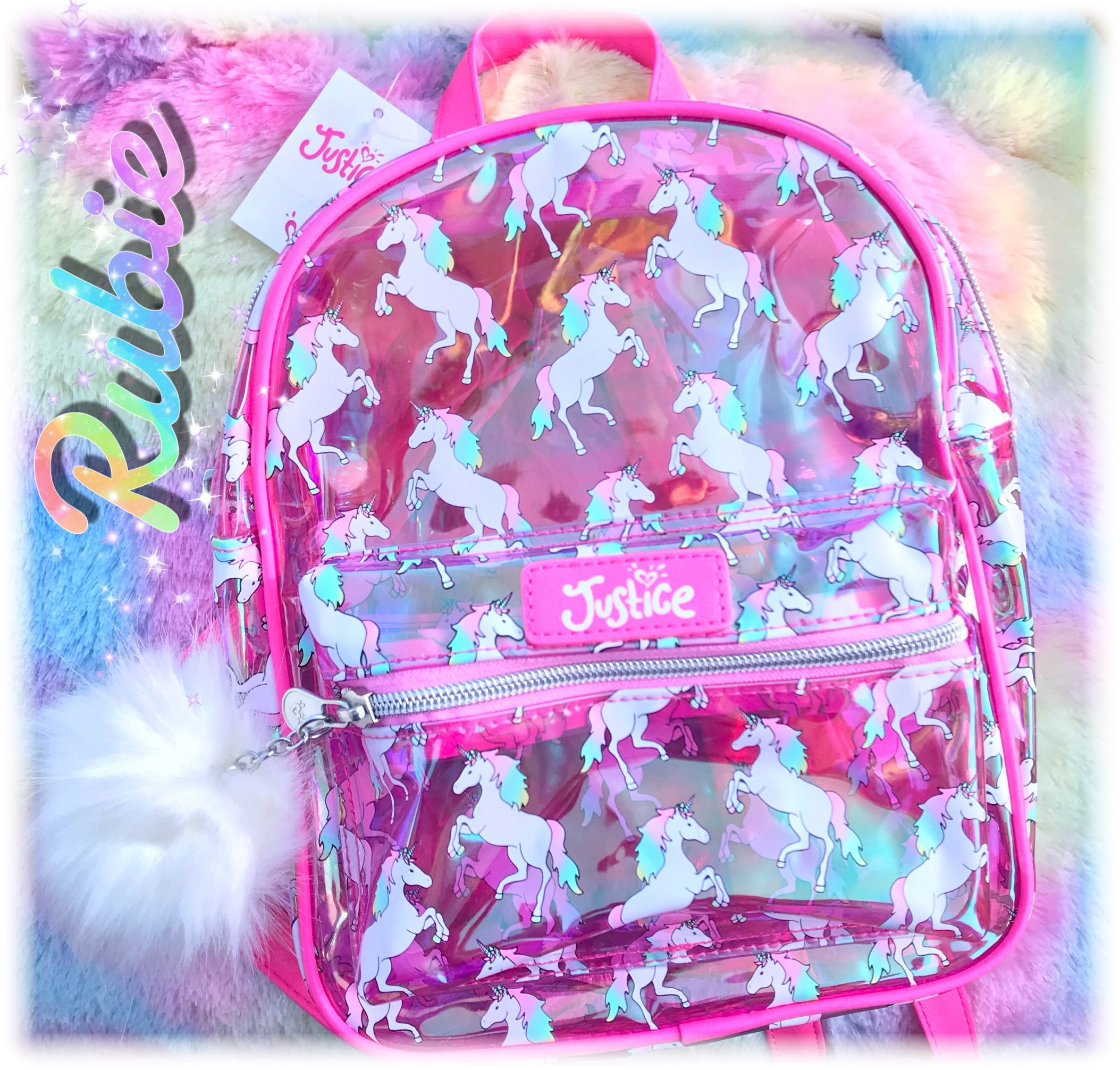 f344fd07b859 My daughter's Mini Unicorn Backpack from her favorite store #Justice ...