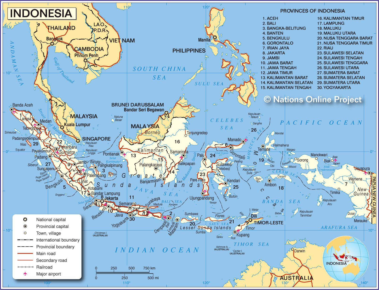 Map of indonesia my indonesia living in the ring of fire map of indonesia gumiabroncs Images