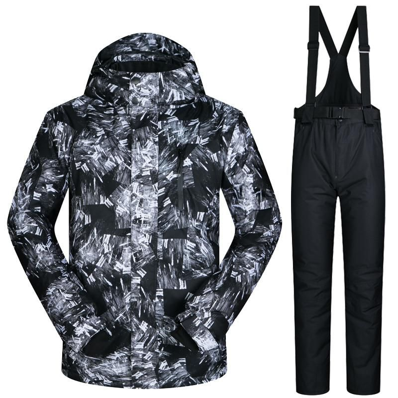 Skiing & Snowboarding Trousers Camouflage For Men Ski Suit Set Snowboarding Suit Clothing Waterproof Breathable Winter Costumes Winter Suit Jacket Sports & Entertainment