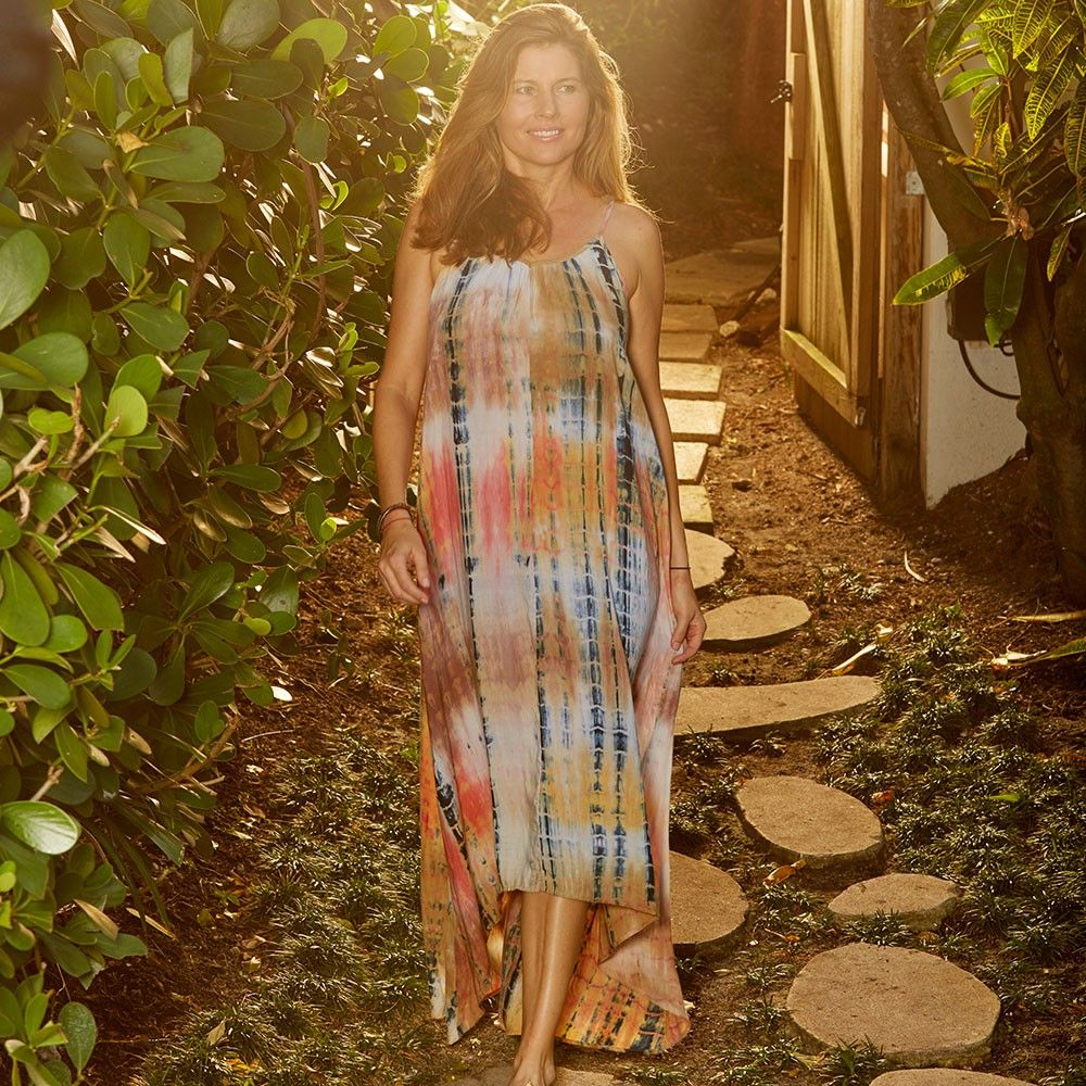 6c5c799b6f7 This drapey maxi dress features a subtle high-low hemline and amazing  movement. It s